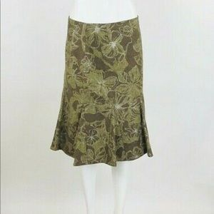 Albert Nipon Floral Flare Skirt